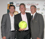 L to R: Todd Woodbridge (Australian Davis Cup coach), Wayne Wendt (MP State Member for Ipswich West) and Mal Anderson (Davis Cup Winner & 2000 International Tennis Hall of Fame Inductee)