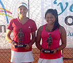 L to R: Girls Doubles Winners, Ellen Perez and Stephanie Yamada